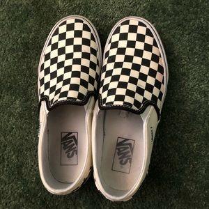Women's Checkered Vans 7.5